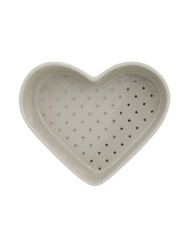 Bloomingville Heart Dish With Gold Stars