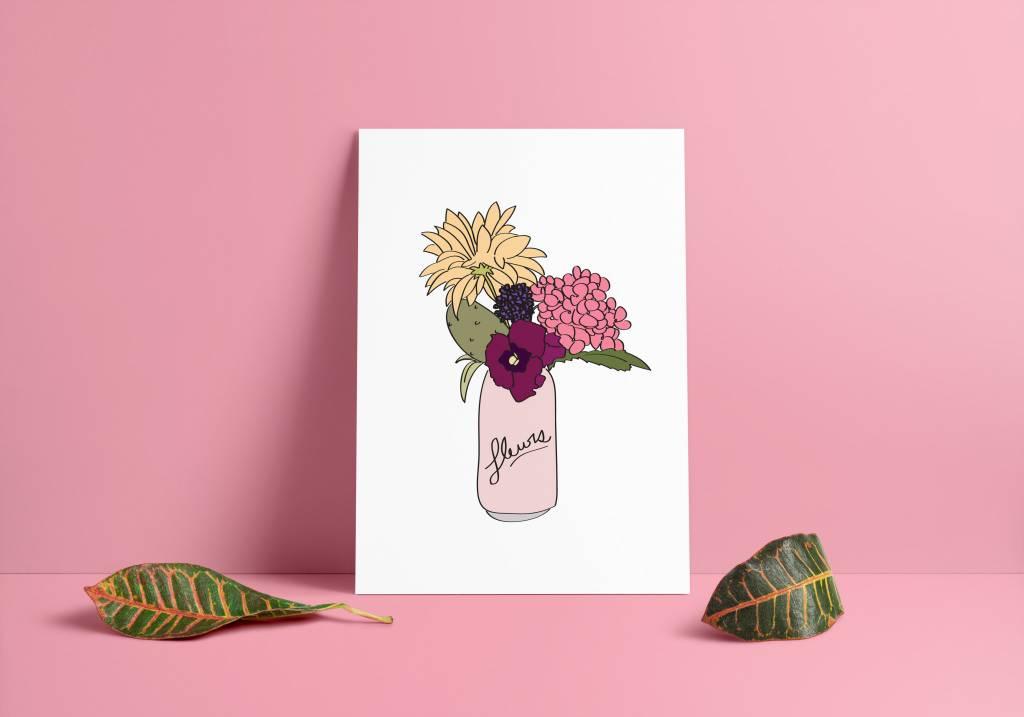 Fleur Maison Large Flower Can Poster
