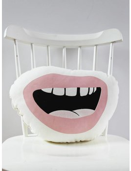 Sun and Stars Pink Mouth Cushion