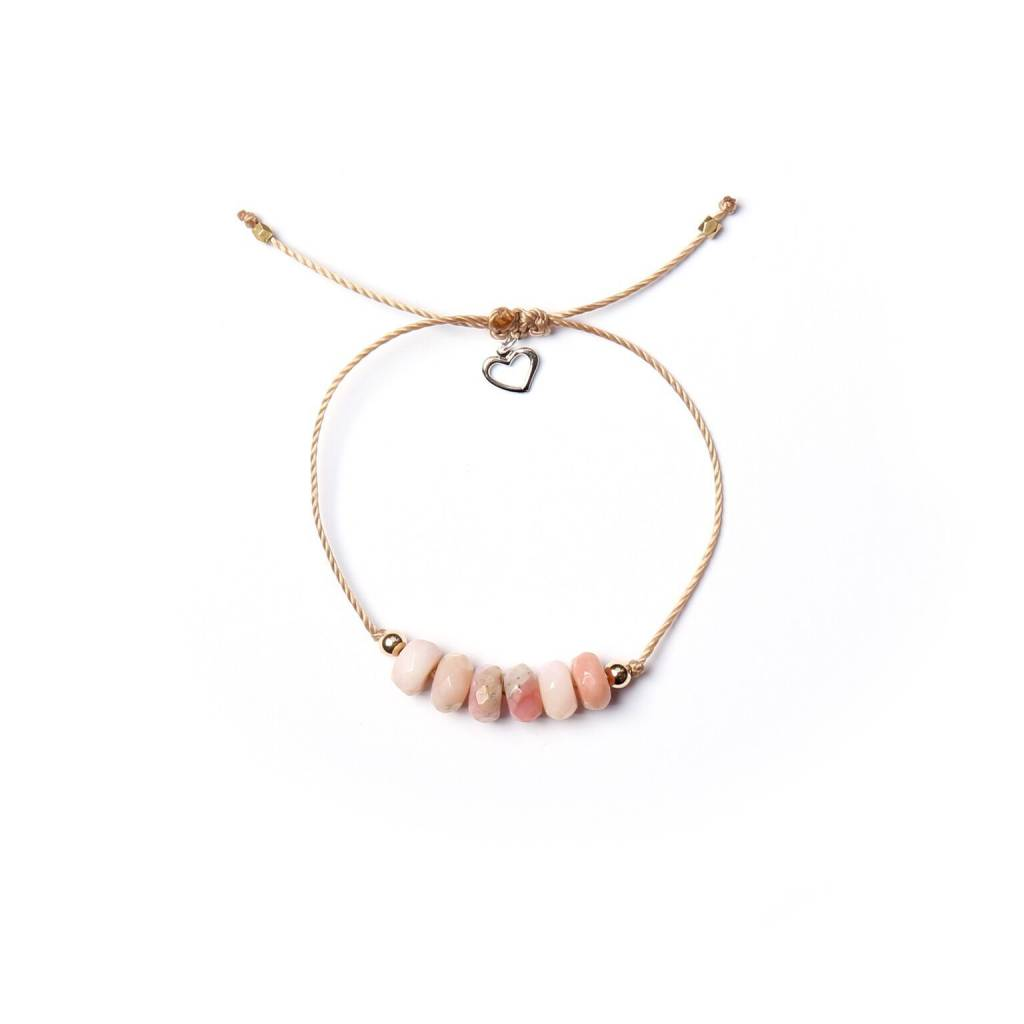 in sydney normal lyst yellow jewelry pink coral evan beaded gold diamond stretch bracelet starfish opal product