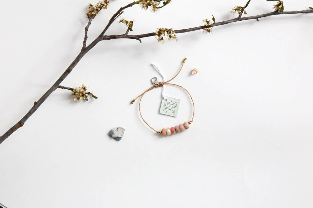 Si Simple Bracelet Opale Rose