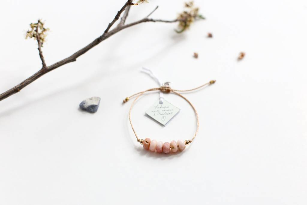 Si Simple Pink Opal Bracelet