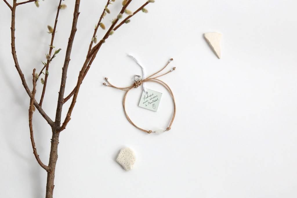 Si Simple Moonstone Bracelet