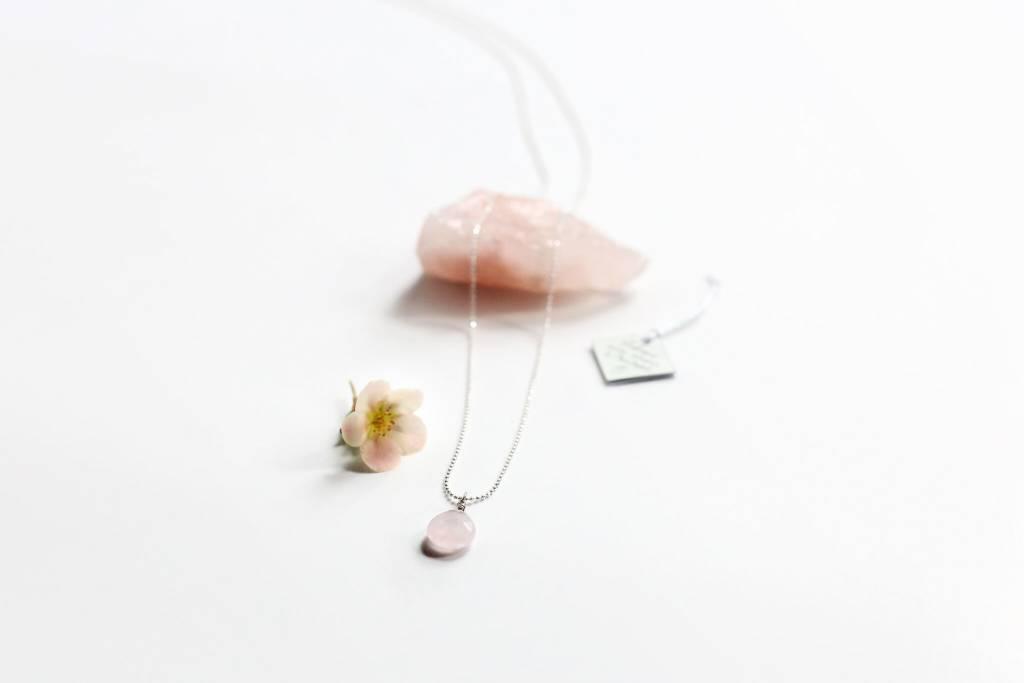 Si Simple Collier Quartz Rose