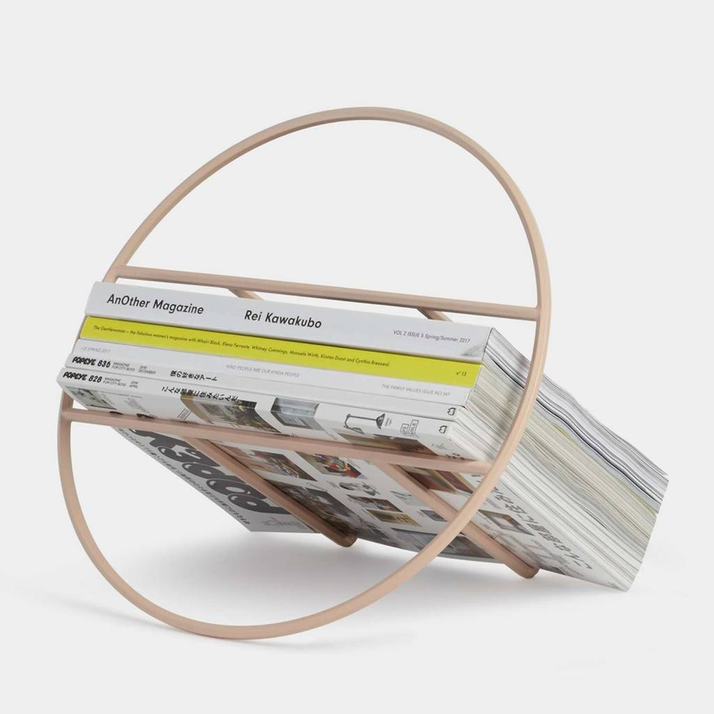 Umbra Hoop Pink Magazine Rack
