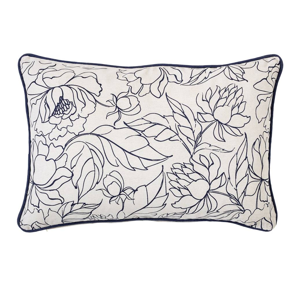 Bloomingville Blue Flower Pillow