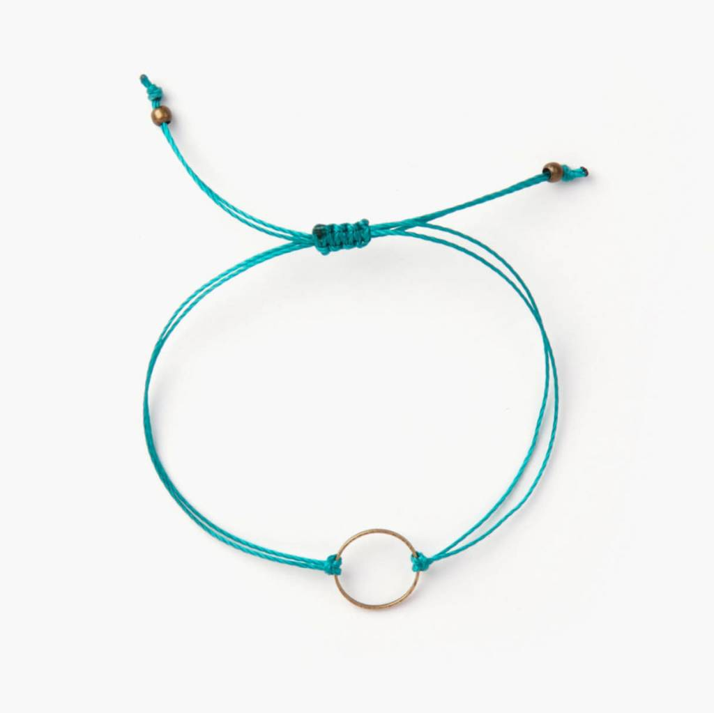 Si Simple Marilou Bracelet -  Turquoise&Gold