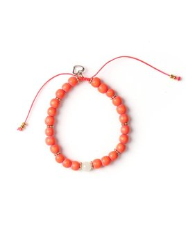 Si Simple Bracelet Rose Corail