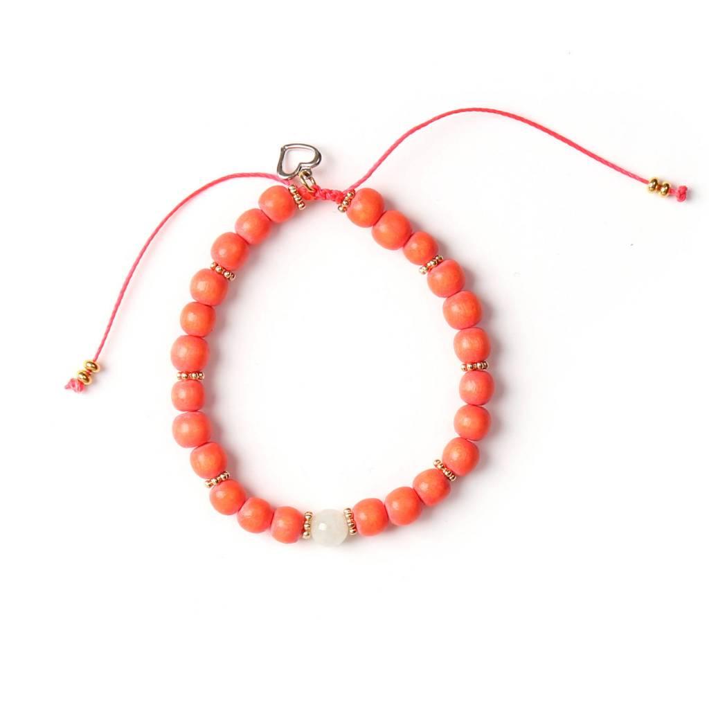 Si Simple Rose Bracelet  - Coral