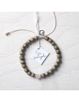 Si Simple Rose Bracelet - Taupe