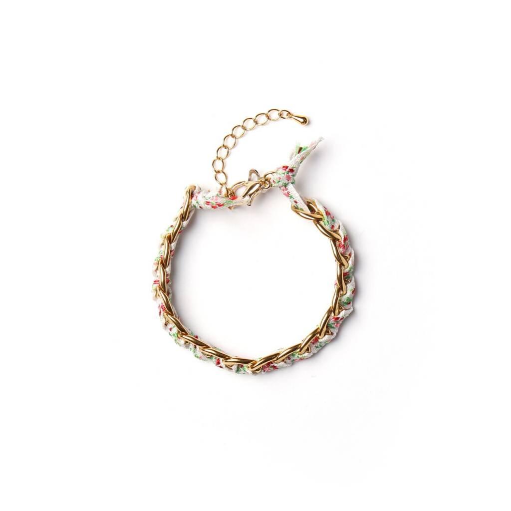 Si Simple Jade Bracelet  - Gold