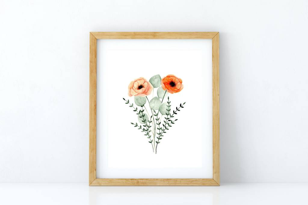 Fla Fla Poppies Bouquet Poster