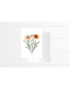Fla Fla Poppies Bouquet Card