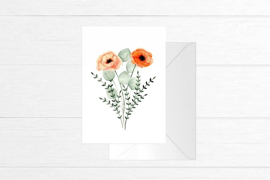 Fla Fla Poppies Bouquet Card