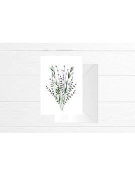 Fla Fla Lavander Bouquet Card