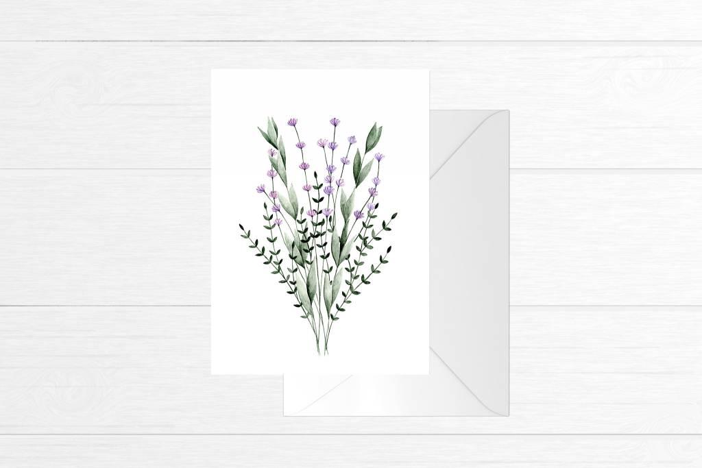 Fla Fla Lavander Bouquet Card