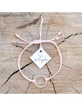 Si Simple Bracelet Isabel Argent et Rose