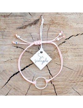 Si Simple Pink Silver Isabel Bracelet
