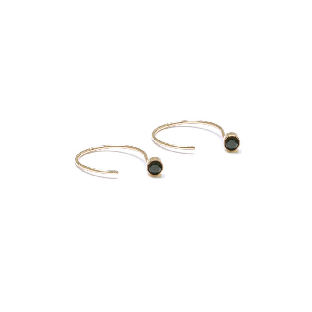 Hart and Stone Black Curled Earrings