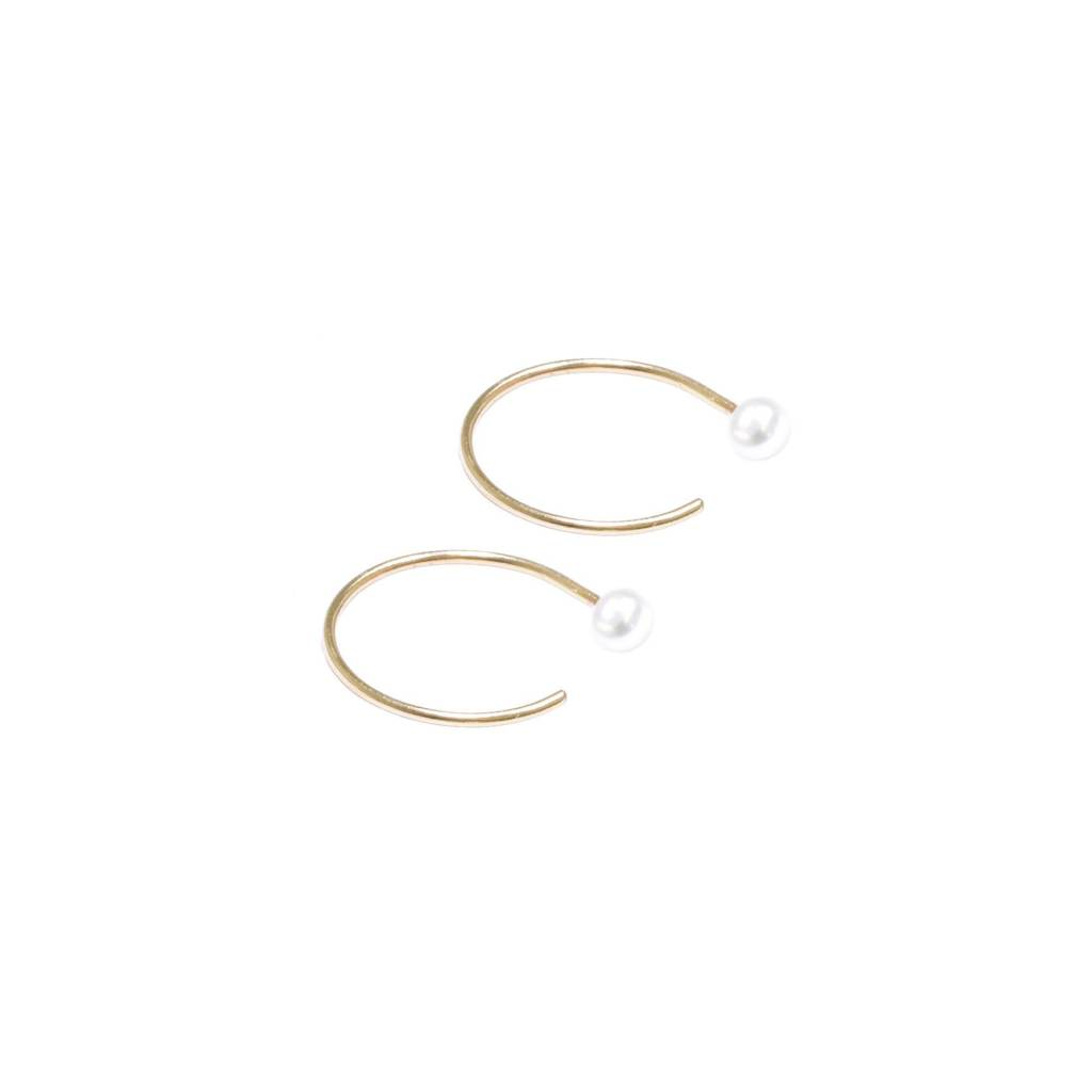Hart and Stone Boucles d'oreilles Perle Courbe
