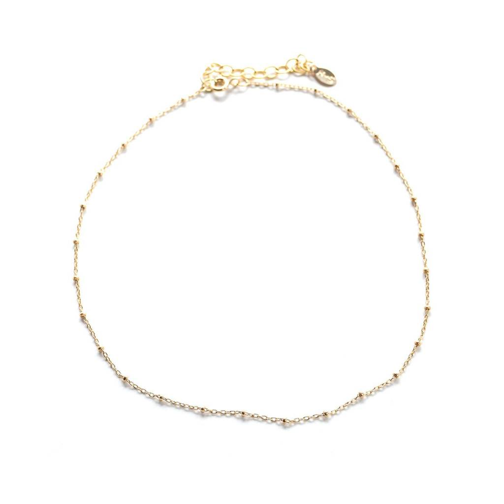 Hart and Stone Dotted Gold Choker