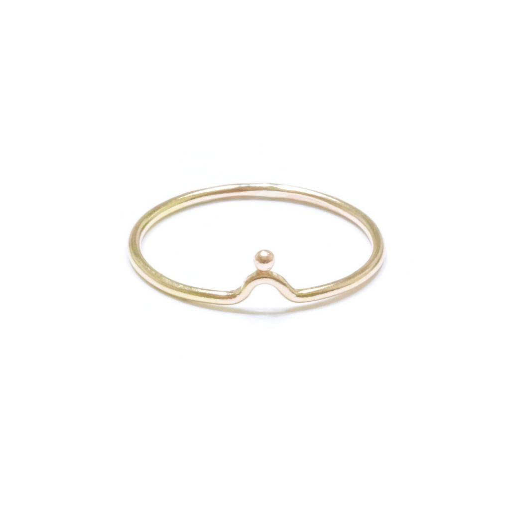 Hart and Stone Luna Dot Gold Ring