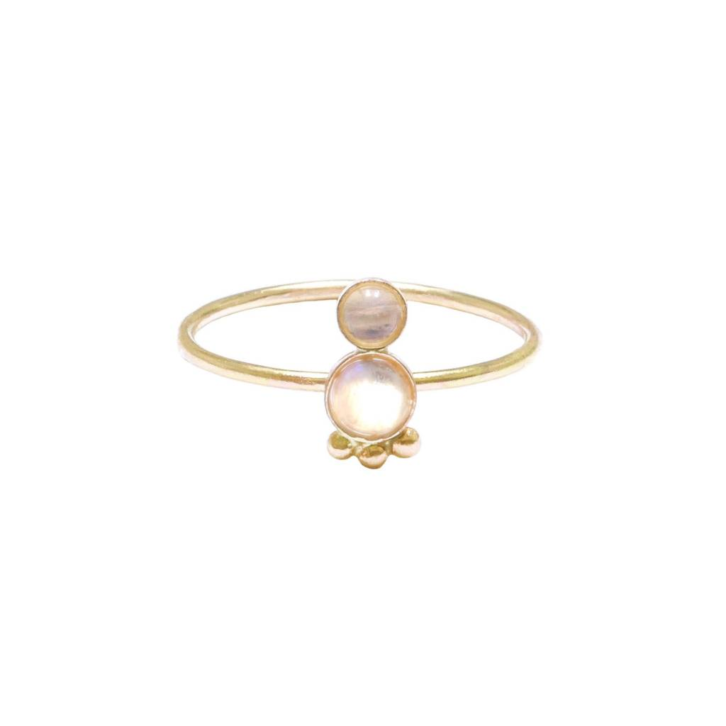 Hart and Stone Moonstone Spud Ring