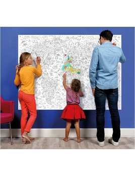 Giant Coloring Mappemonde