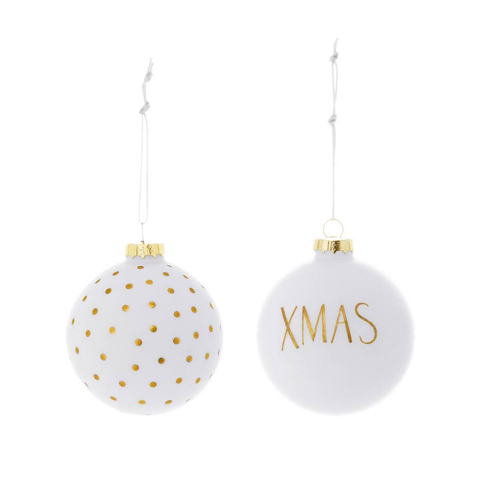 Bloomingville White Xmas Ornament