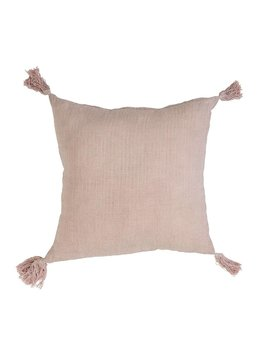 Bloomingville Pink Tassels Pillow
