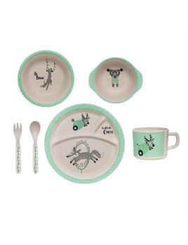 Bloomingville Mint Bamboo Set