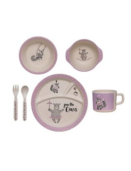 Bloomingville Purple Bamboo Set