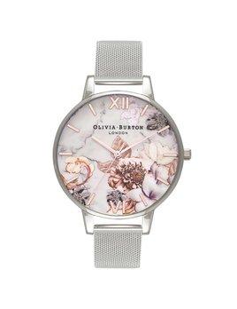 Olivia Burton Silver Marble Watch