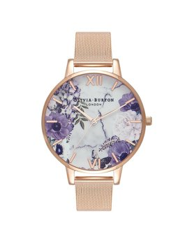 Olivia Burton Floral Rose Gold Marble Watch