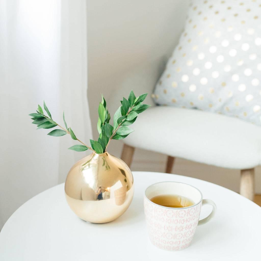 Design Home Coussin Gris Pois Dorés