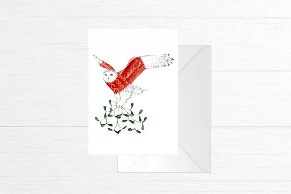 Fla Fla Snow Owl Card