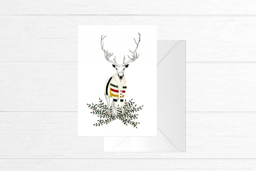 Fla Fla Wooland Caribou Card