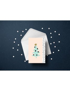 Toffie Scandinavian Tree Greeting Card