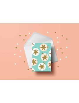 Toffie Starry Ornaments Greeting Card