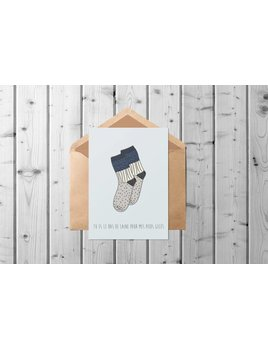 Fleur Maison Wool Socks Greeting Card