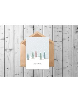 Fleur Maison Pastel Forest Greeting Card