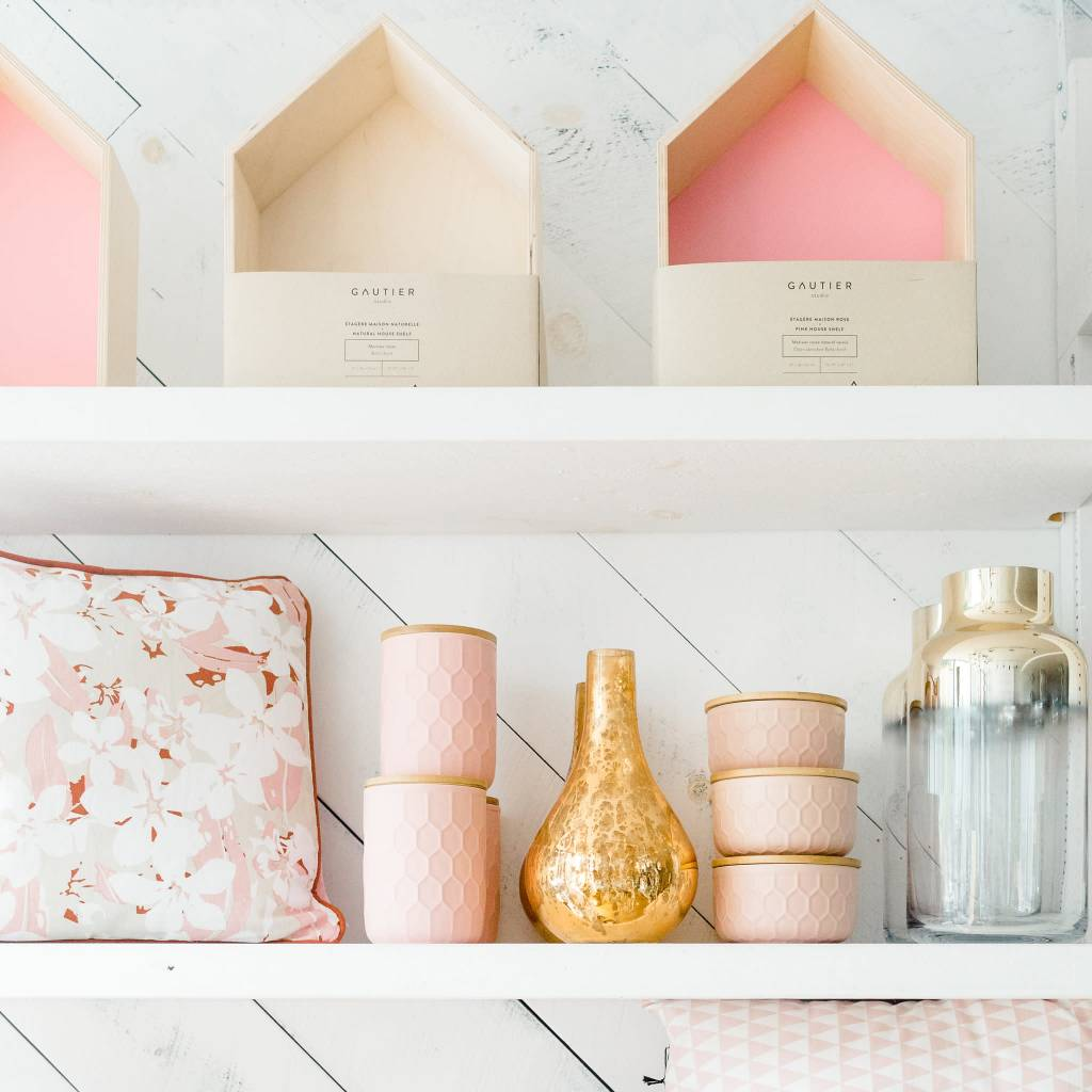 Gautier Studio Étagère Maison Rose