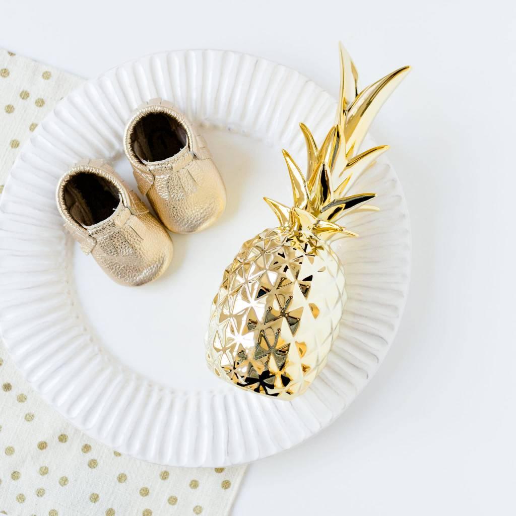 Design Home Pineapple Gold Ceramic