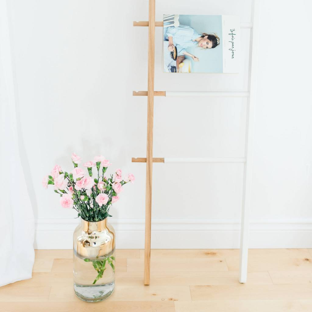 Bloomingville Tall Clear and Gold Vase