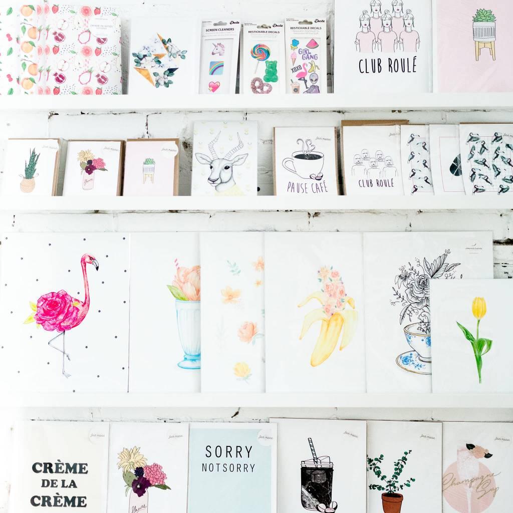 Fleur Maison Carte de souhaits - Langue Belle-Mère