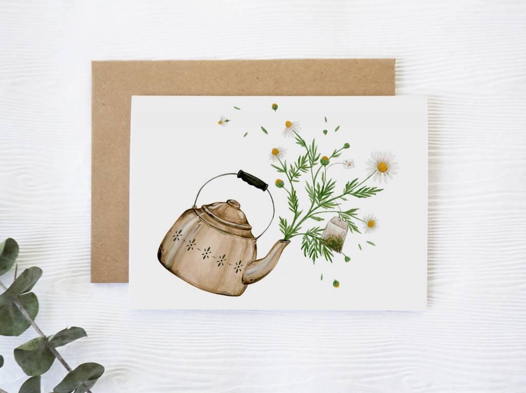 Joannie Houle Chamomile Greeting Card