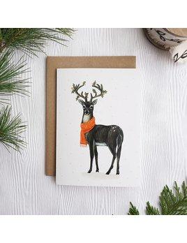 Joannie Houle Holiday Deer Card
