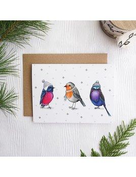 Joannie Houle Carte Oiseaux Frileux