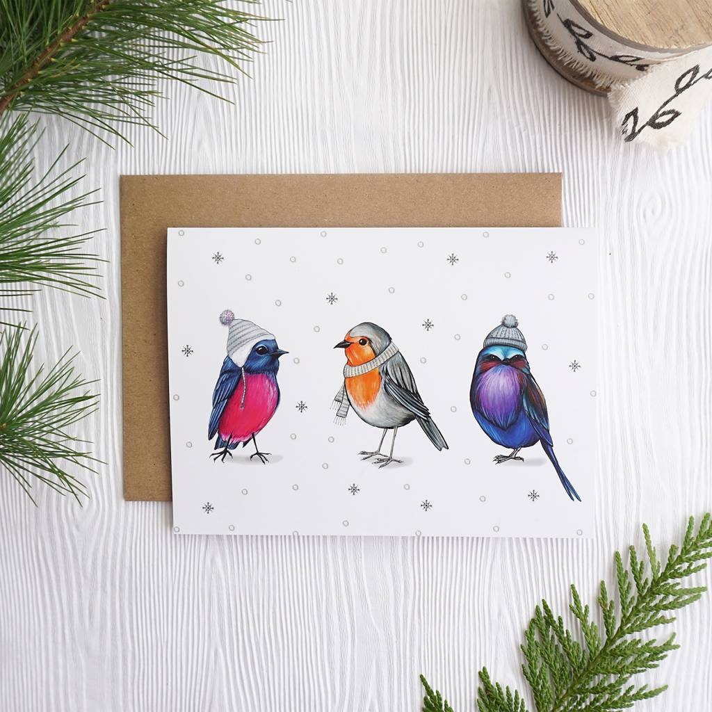 Joannie Houle 3 Chilly Birds Card