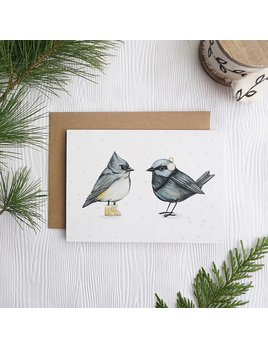 Joannie Houle Carte Oiseaux D'Hiver